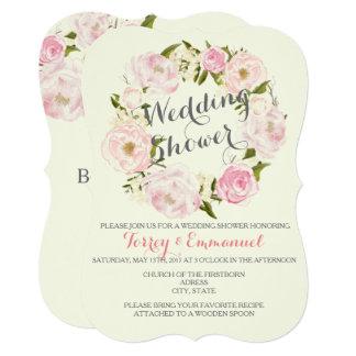 Pink Floral Wedding Shower Invitations