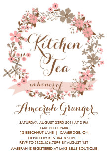 kitchen tea invitations announcements zazzle au