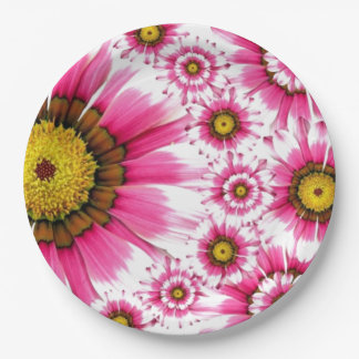 Pink Flower 9 Inch Paper Plate