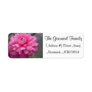 Pink Flower Address Labels