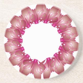 Pink Flower Beverage Coaster