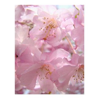 Pink Flower Blossoms Flyers paper Custom