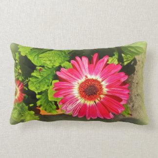 Pink Flower Bok Tower Gardens Lake Wales Florida Lumbar Cushion