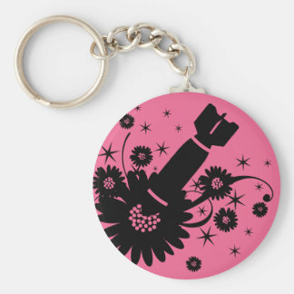 Pink Flower Bomb Key Ring