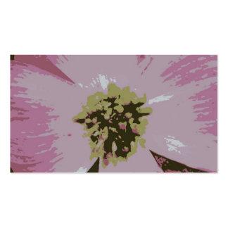 Pink Flower Bookmark Business Card Template