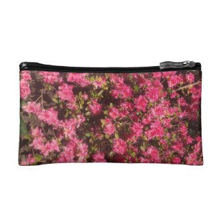 Pink Flower Bouquet Cosmetic Bag