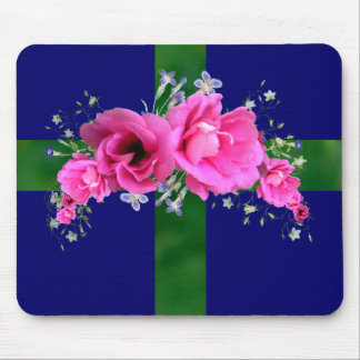 Pink Flower Bouquet Mouse Pad