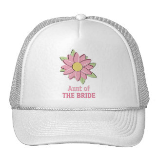 Pink Flower Bride Aunt Trucker Hats