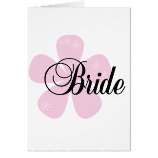 Pink Flower Bride Greeting Card