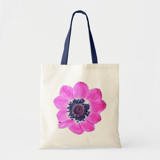 Pink Flower Budget Tote Canvas Bag