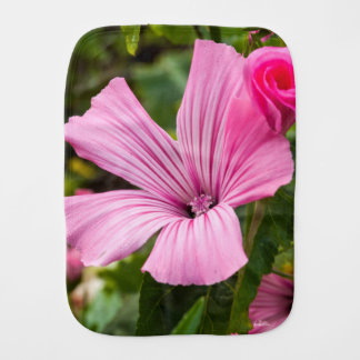 pink flower burp cloth