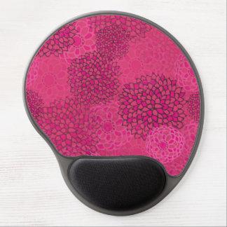 Pink Flower Burst Design Gel Mouse Pad