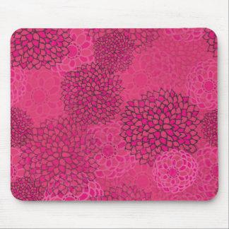 Pink Flower Burst Design Mouse Pad