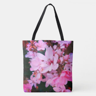 Pink Flower Bush Tote Bag