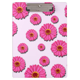 PINK FLOWER CLIPBOARD