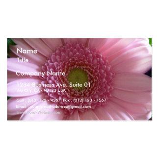Pink Flower Close Up Big Flower Business Card Template