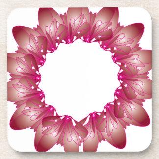 Pink Flower Coasters