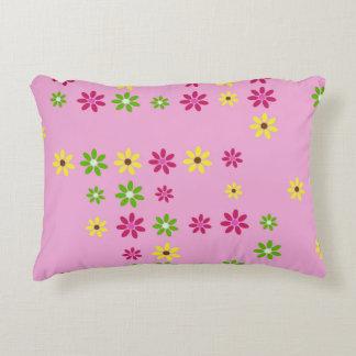 Pink Flower Confetti Decorative Cushion