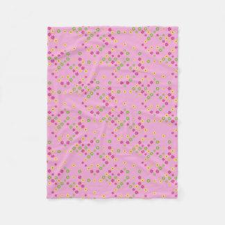 Pink Flower Confetti Fleece Blanket
