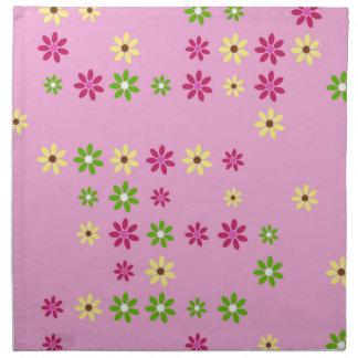 Pink Flower Confetti Napkin