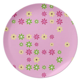 Pink Flower Confetti Plate
