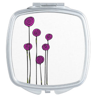 Pink Flower Cosmetic Mirror