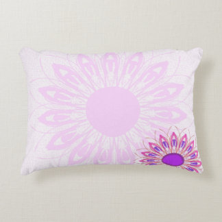pink flower decorative cushion