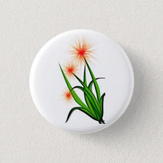 pink flower design button