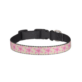 Pink Flower Dog Collar
