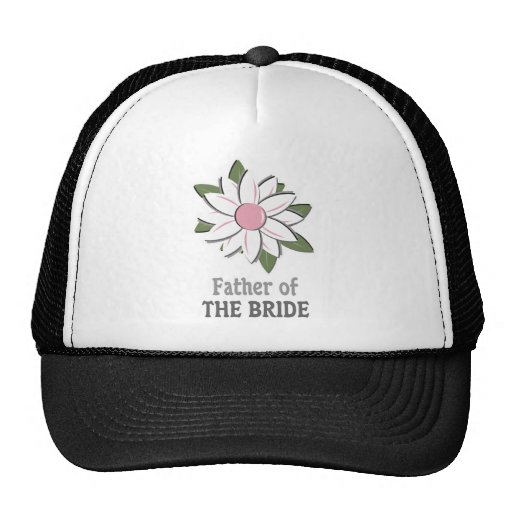Pink Flower Father of the Bride Mesh Hat