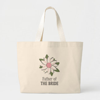 Pink Flower Father of the Bride Jumbo Tote Bag