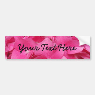 Pink Flower Floral Photography Nature Bumper Sticker