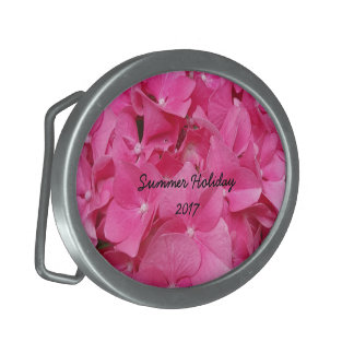 Pink Flower Floral Photography Nature Oval Belt Buckles