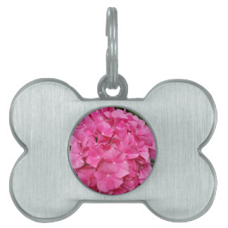 Pink Flower Floral Photography Nature Pet Name Tag