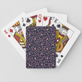 Pink Flower Floral Seamless Pattern Playing Cards