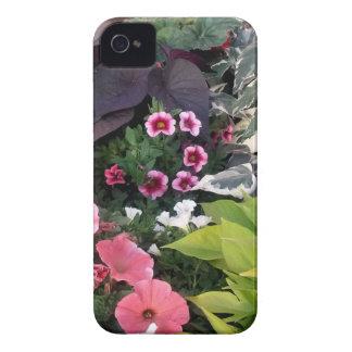 Pink Flower Garden iPhone 4 Case-Mate Case