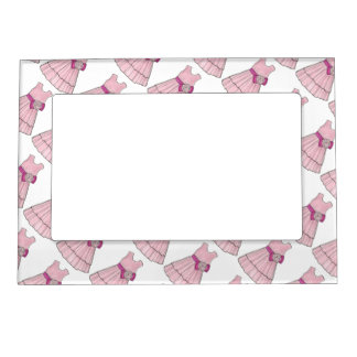 Pink Flower Girl Wedding Pageant Party Dress Frame Magnetic Picture Frames