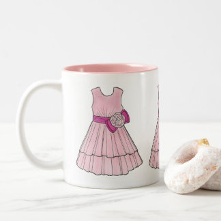 Pink Flower Girl Wedding Party Pageant Dress Mug