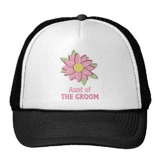 Pink Flower Groom Aunt Trucker Hat