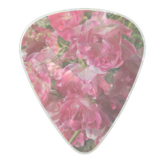 Pink Flower Guitar Pick Pearl Celluloid Guitar Pick