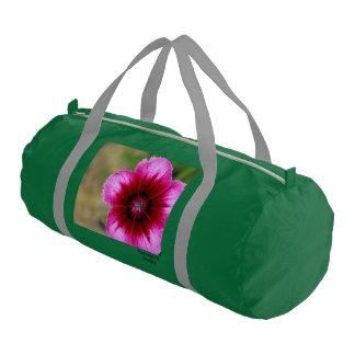 Pink Flower Gym Bag