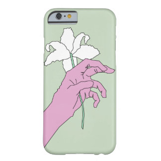 Pink Flower Hand Barely There iPhone 6 Case
