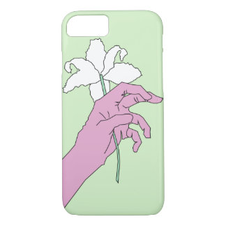 Pink Flower Hand iPhone 8/7 Case