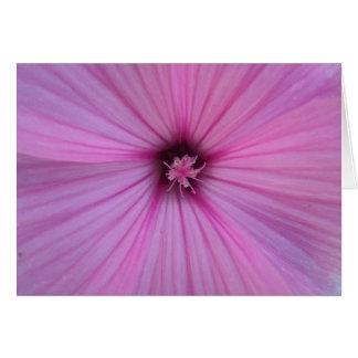 Pink Flower Heart Petals Card