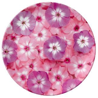 Pink flower image for Decorative Porcelain Plate