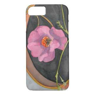 Pink Flower in Terra iPhone 7 Barely There Case