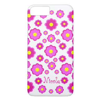 pink flower iPhone 7 plus case