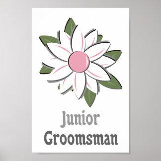 Pink Flower Jr Groomsman Posters