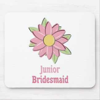 Pink Flower Junior Bridesmaid Mouse Pad