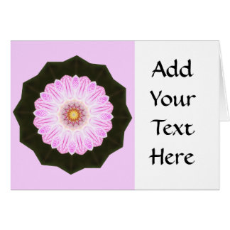 Pink Flower Kaleidoscope Abstract Art Graphic Card